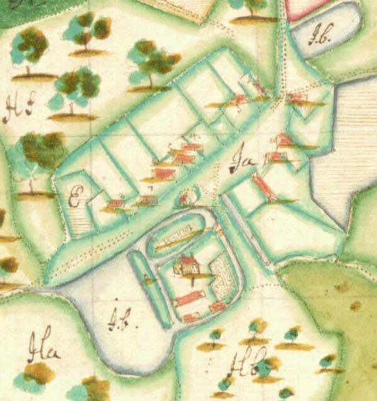 Schwedishe matrikelkarte vom 1695